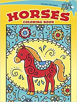spark horses coloring book dover spark dover coloring books for children - Dover Coloring Book