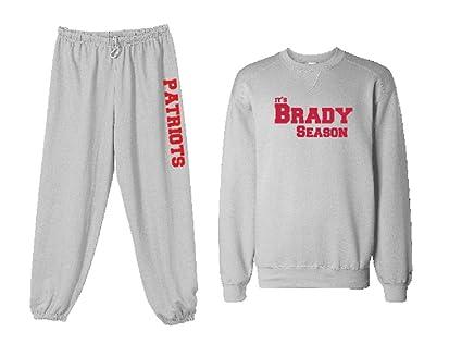 66a19e62d Unisex Mens Womens Custom Gray Patriots It's Brady Season Football  Sweatshirt Sweatpants Set Personalization Available (