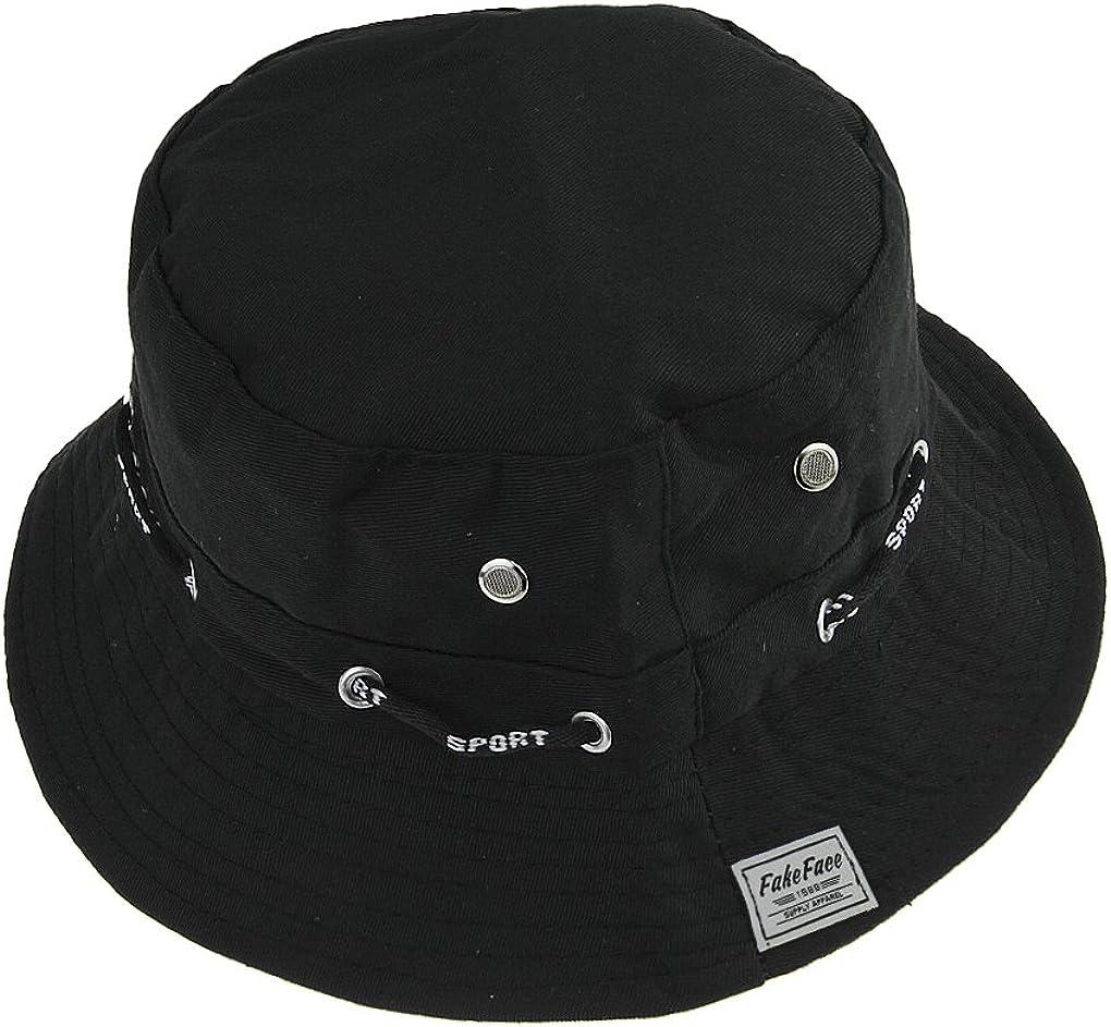Sombrero de pescador plegable de verano gorro ancho para senderismo y camping de algod/ón con protecci/ón UV UPF 50+ LONTG sombrero de playa