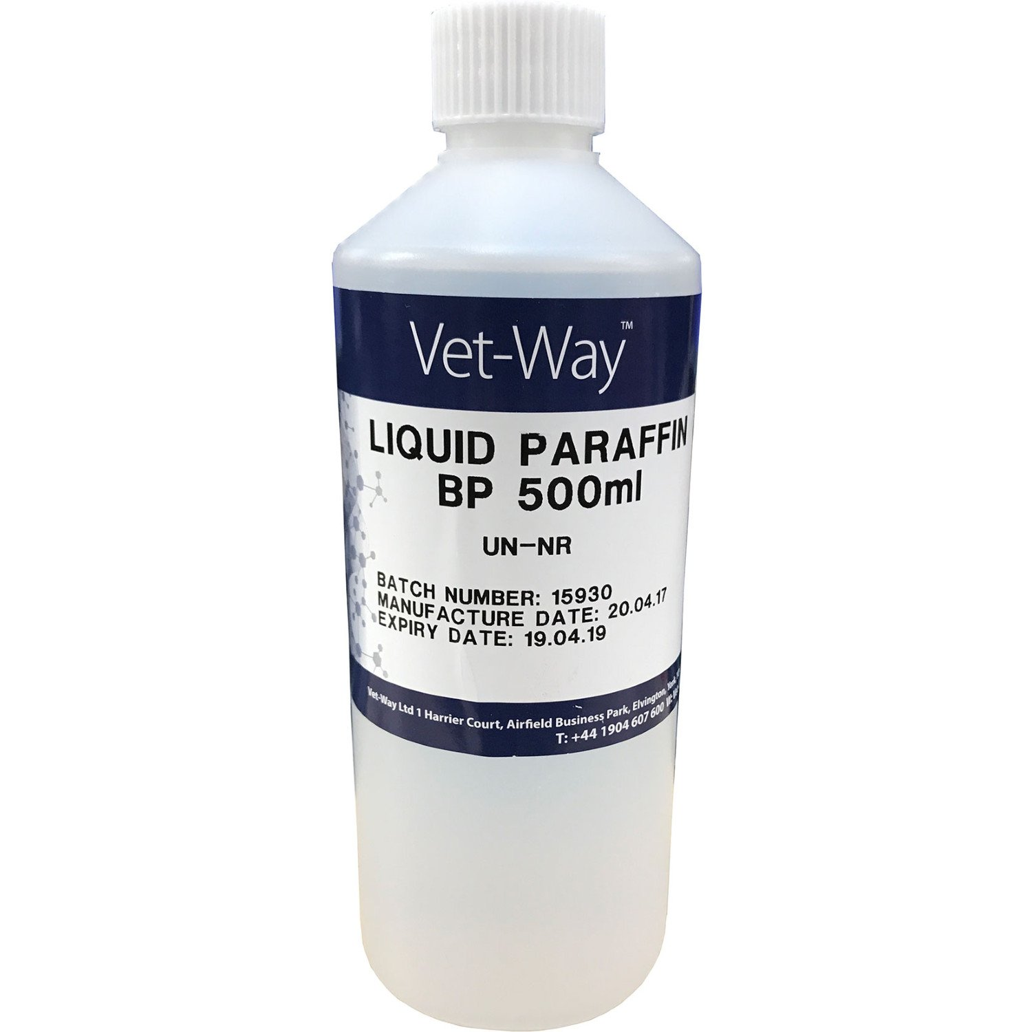 Vet Way Liquid Paraffin 500ml Horse First Aid Pack of 20 Clear by Vet Way (Image #1)
