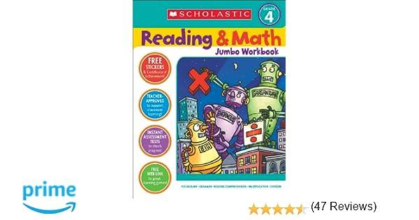 Amazon.com: Reading & Math Jumbo Workbook: Grade 4 (9780439786034 ...