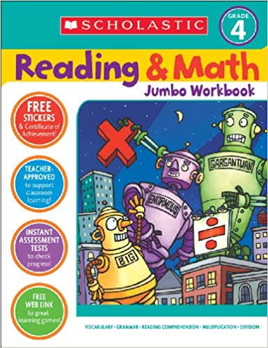 Workbook 4th grade spanish worksheets : Amazon.com: Reading & Math Jumbo Workbook: Grade 4 (9780439786034 ...