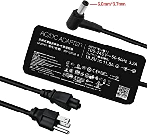 New Slim AC Charger for Asus ROG GL504GS S5DV S5DU GX531GWR GX502GW Plus GA502DU GU502GU S5DV S5DW S7DW Plus S5D S7D x2pro GM501GS GX501VI-XS75 ADP-230GB Laptop Power Supply Adapter Cord