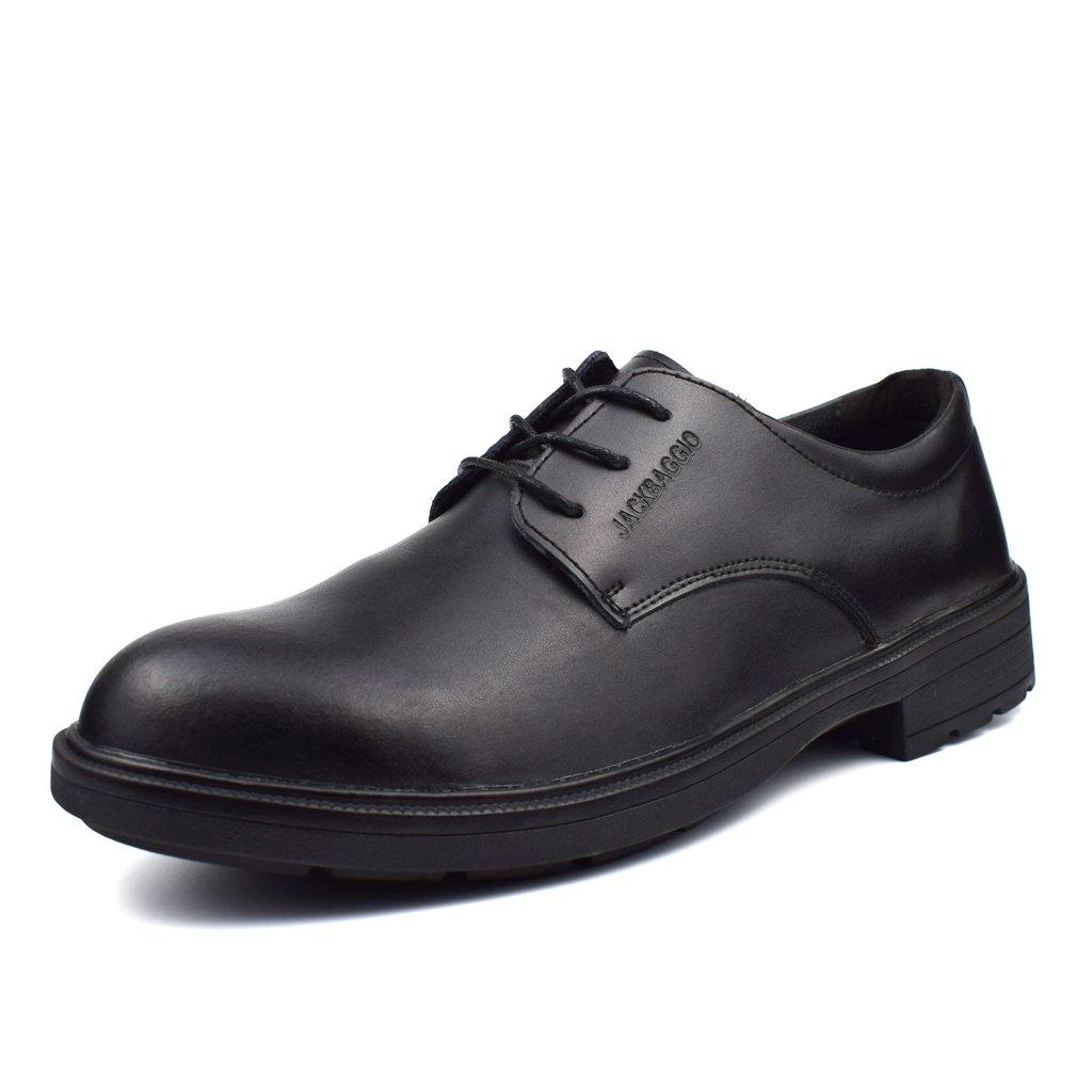 [Placck安全] 安全靴 コックシューズ 厨房シューズ 調理靴 作業靴 ビジネスシューズ 黒 防水 防滑 防油 24cm-27.5cm B0783QJKC4 ブラック 27.5 cm