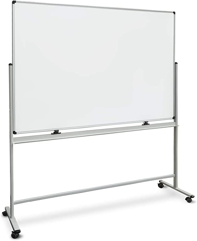 Tableau Blanc Mobile | Tableau Magnétique à Roulette avec