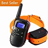 Remote Dog Training Collar - Rechargeable and 100% Waterproof Dog Shock Collar 300 yd with Beep/Vibrating/Shock Electric E-collar