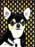 Caroline's Treasures SC9197CHF Chihuahua Candy Corn Halloween Portrait Flag Canvas, Large, Multicolor Review