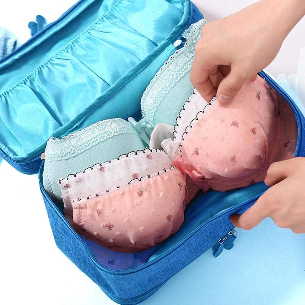 Grey Prosperveil Travel Underwear Bra Packing Cube Organizer Storage Bag Women Lingerie Pouch Portable Waterproof