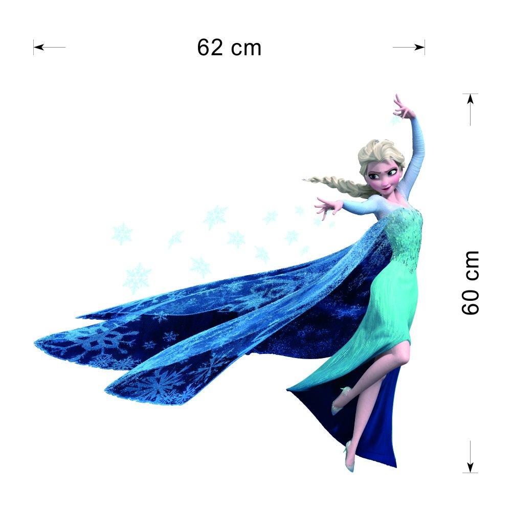 Topro Sumlake 3D-Wandtattoo, Design Elsa aus dem Disney-Film \