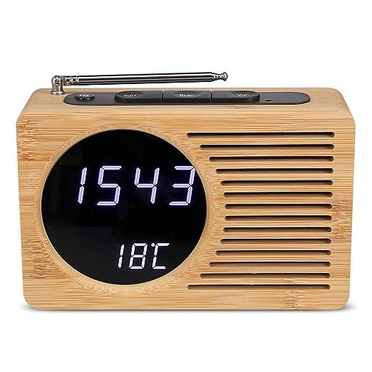 Xinyexinwang Radio FM Digital Reloj Despertador 12h / 24h Luz ...