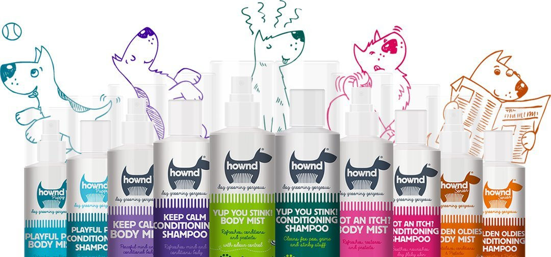 HOWND Got an Itch? Body Mist- All Natural Dog Spray Deodorizer - Rose and Bergamot Essential Oils, Dog Deodorant Spray