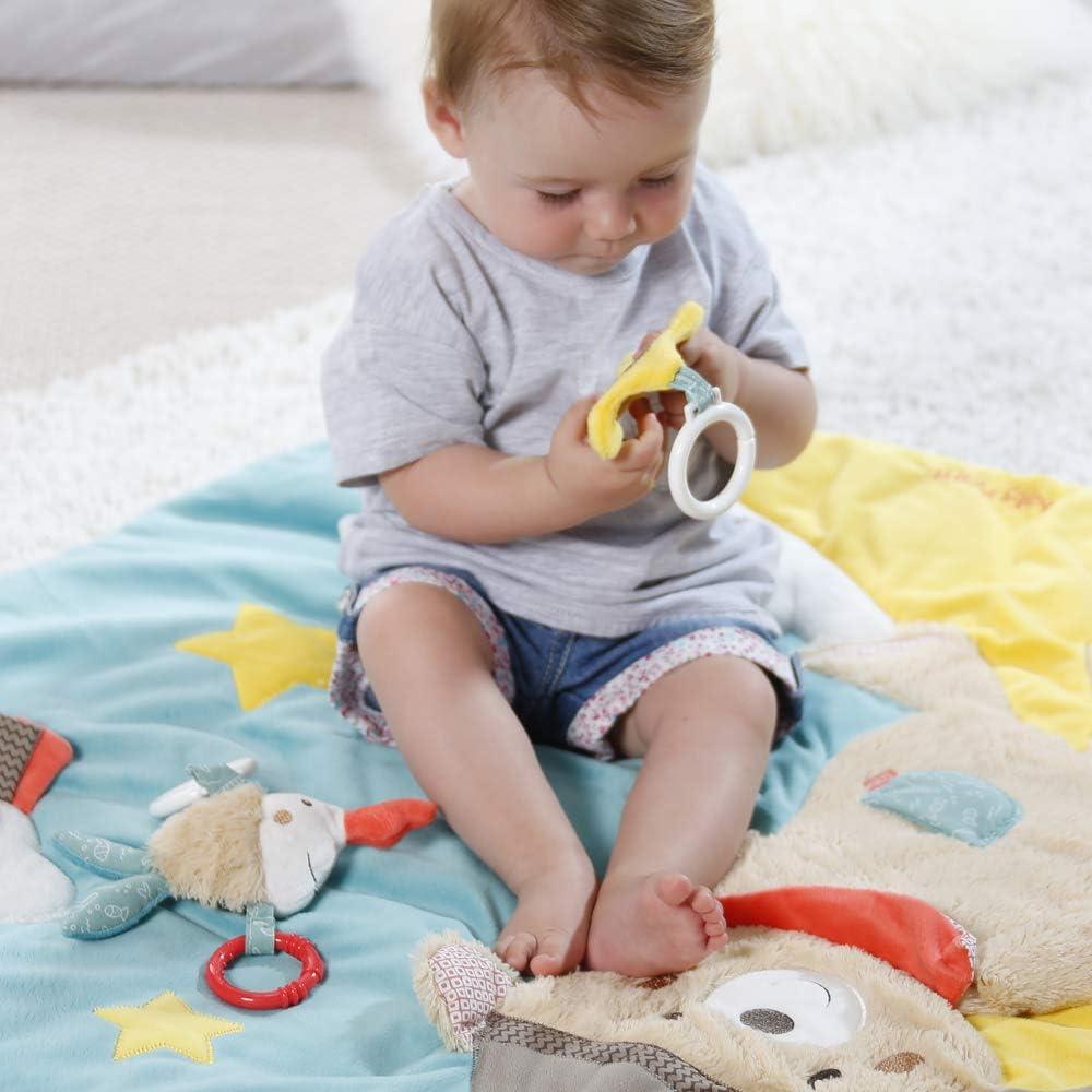 /Ø85cm Spielbogen mit 5 abnehmbaren Spielzeugen f/ür Babys Spiel /& Spa/ß von Geburt an Fehn 081664 3-D-Activity-Decke Affe Ma/ße