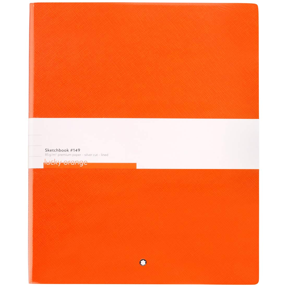 Montblanc Sketchbook 116224 Fine Stationery #149 - Leather Notebook A4 Lined with Soft Cover - Lucky Orange - 272 Pages by MONTBLANC
