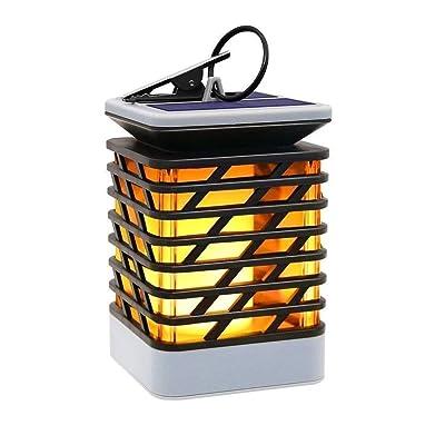 ELELINK Outdoor Solar Lantern Flameless, Solar Hanging Light for Pathway Garedn Patio Umbrella Lamp Lawn Decord (Yellow): Home & Kitchen