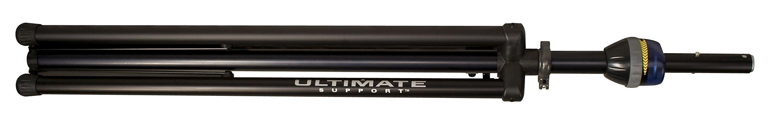 Ultimate Support TS-99BL - TeleLock Series Lift-assist Aluminum Speaker Stand, w/ Speaker Adapter, Xtra Height, Leveling Leg