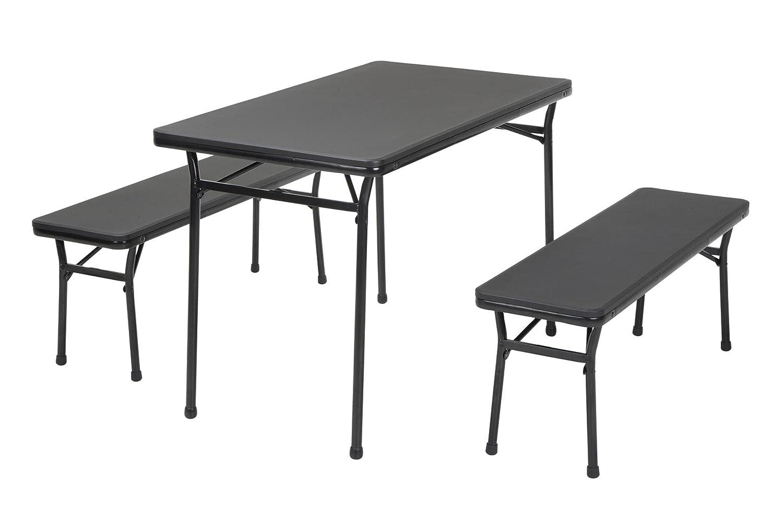 Amazon Cosco Products 3 Piece Indoor Outdoor Table & 2 Bench