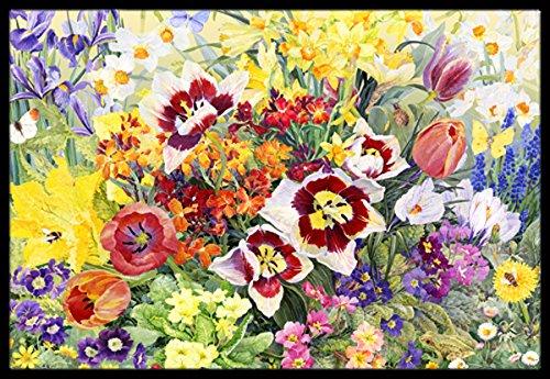 Caroline's Treasures  Spring Floral Rug 24