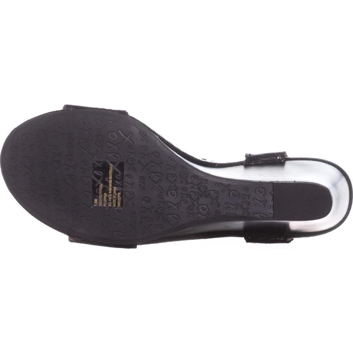 XOXO XOXO XOXO Frauen Sissy Offener Zeh Leger Sandalen mit Keilabsatz  schwarz b6621d