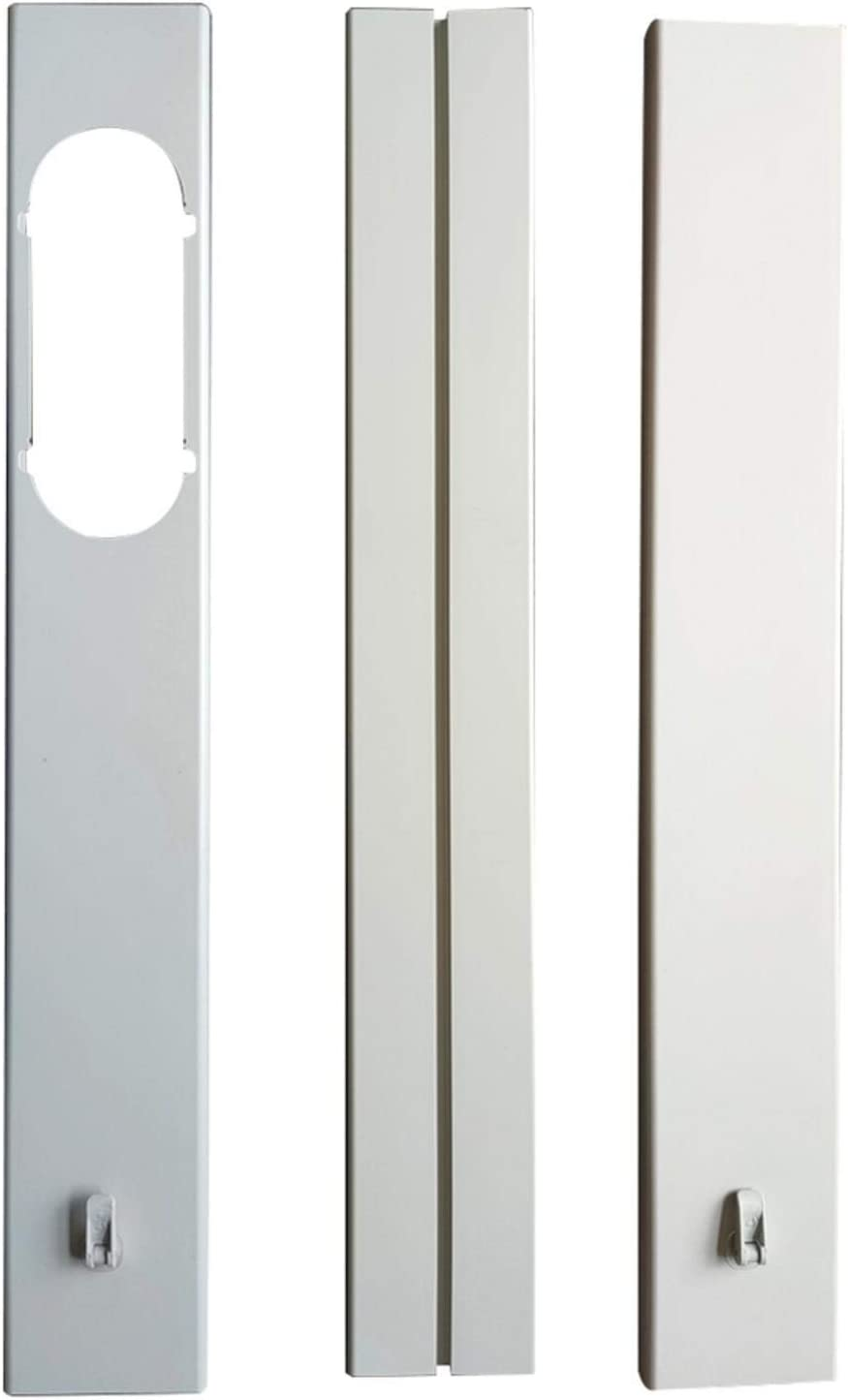 Junta universal para ventanas de aire acondicionado, portátil, ajustable, universal, placa de sellado para ventanas, kit para aire acondicionado, para todos los climatizadores móviles, fácil de montar