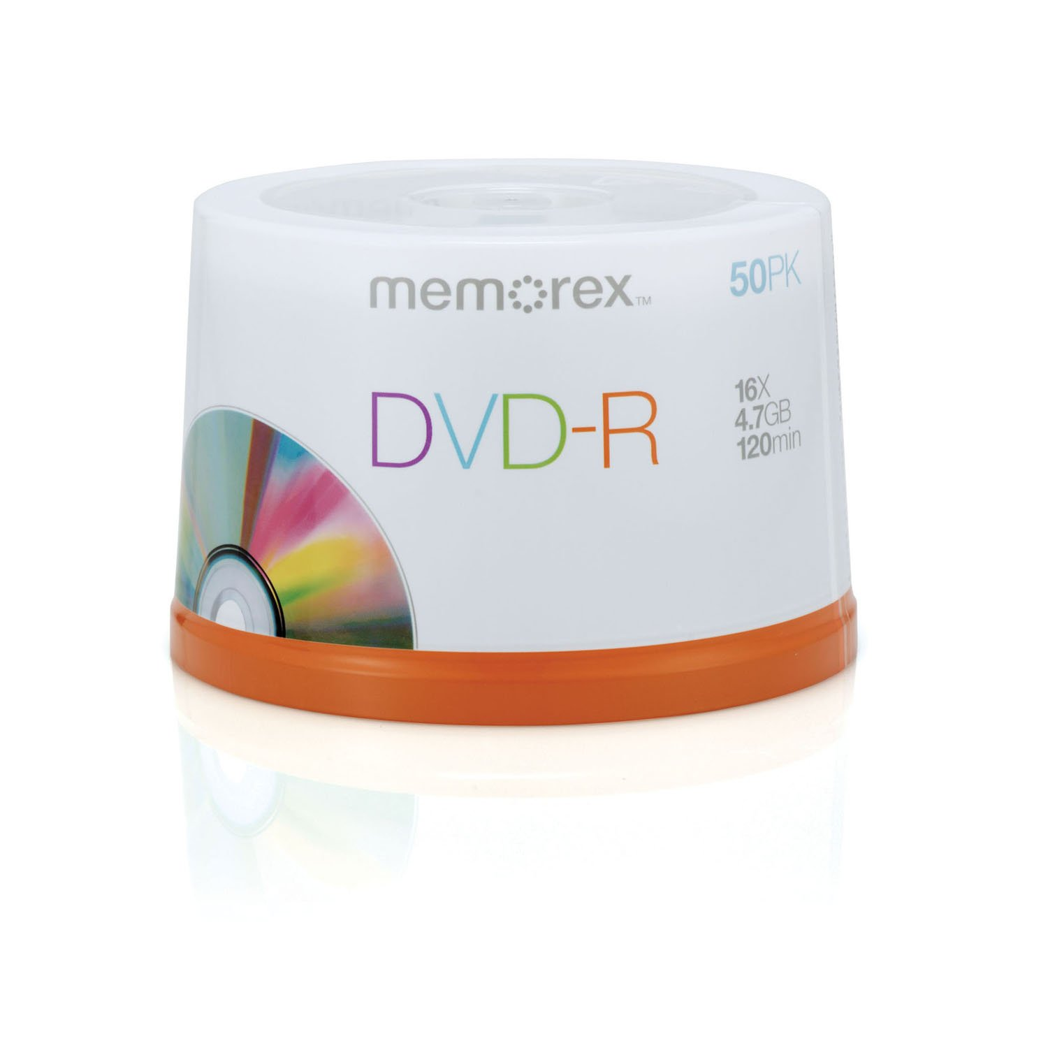 MEMOREX DVD-R 4.7GB 16X PRNTBLE 50 SPNDL