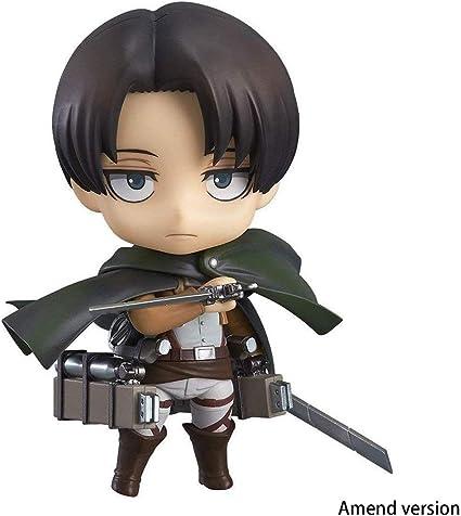 Lilongjiao Attack On Titan: Levi Ackerman Nendoroid Figura De Acción Modelo Juguetes: Amazon.es: Juguetes y juegos