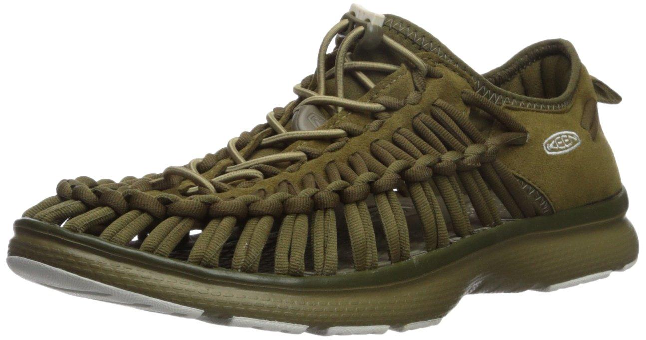 KEEN Women's Uneek o2-w Sandal, Dark Olive/Fir Green, 9.5 M US