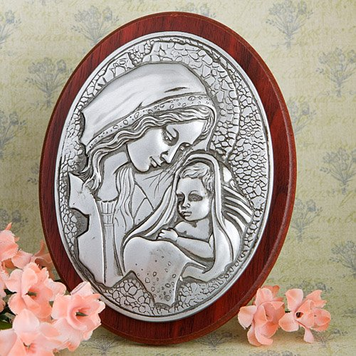 Madonna And Child Plaque - 72 count