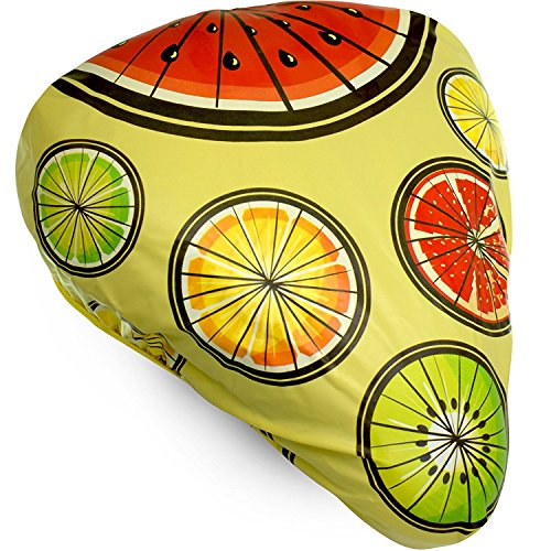 Waterproof Bike Seat Cover - Bicycle Saddle and Dust Rain Protection Exclusive Artist Design (Seat Rain Cover)