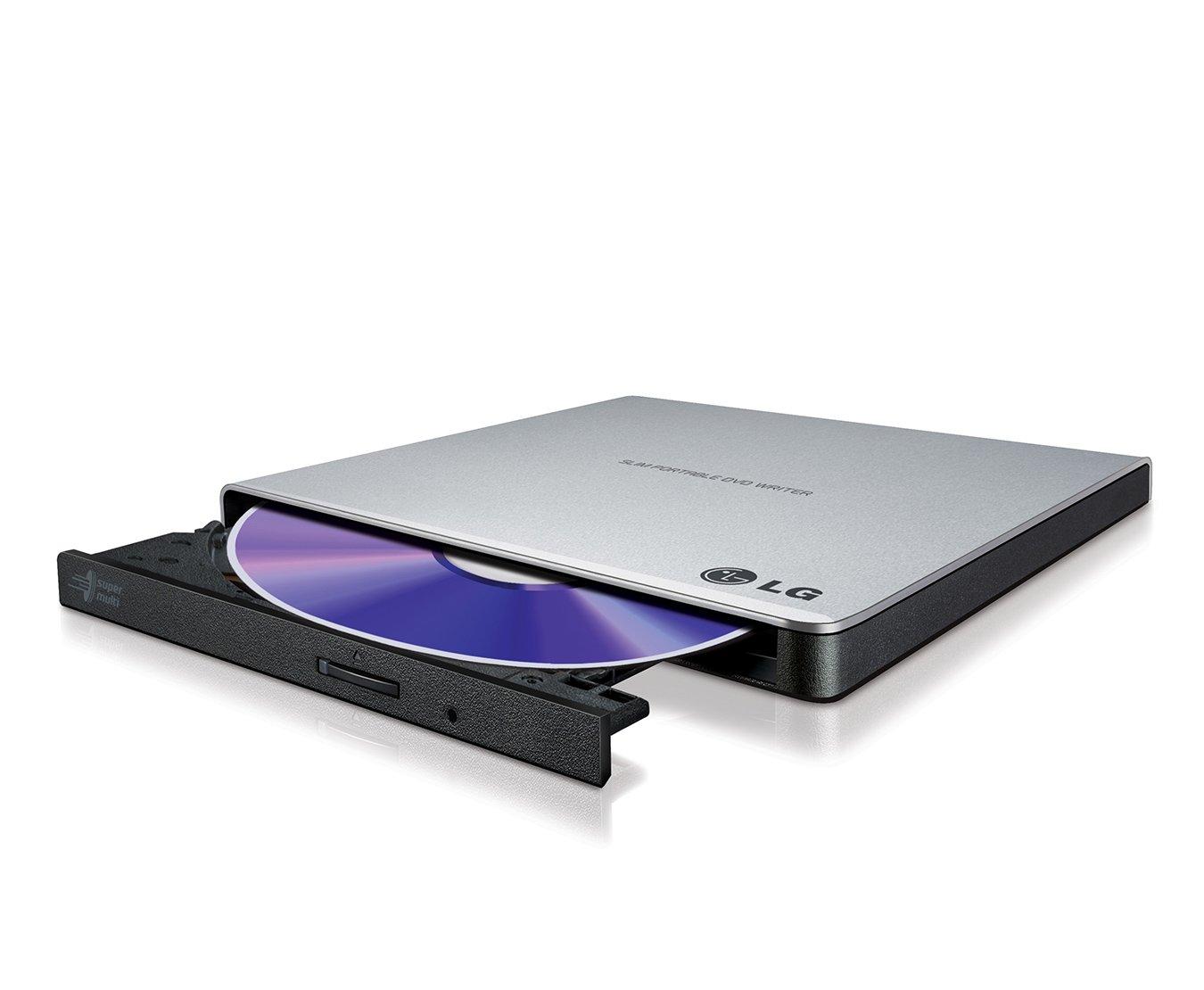 LG GP57ES40 External Ultra Portable Slim DVD-RW Black, Silver