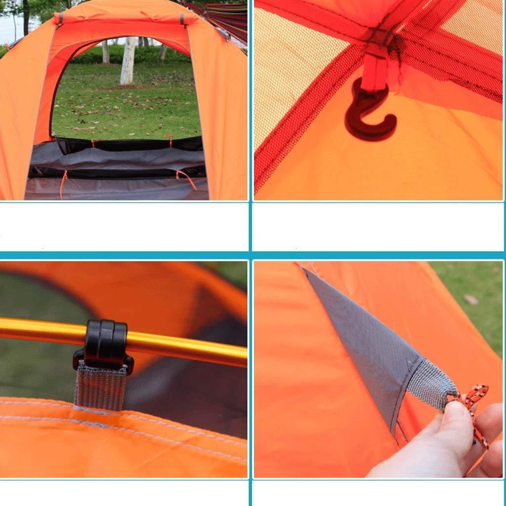 WSGZH Zelt Doppel Outdoor Camping Doppel Doppeltür Wetterfest Manuelle Konstruktion Aluminium Pole Zelt Wetterfest Doppeltür Anti-Uv Strand Camping Zelt 04c7ab