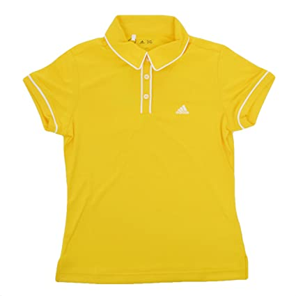 adidas Performance - Polo Niña - Golf - Amarillo/Blanco - S ...