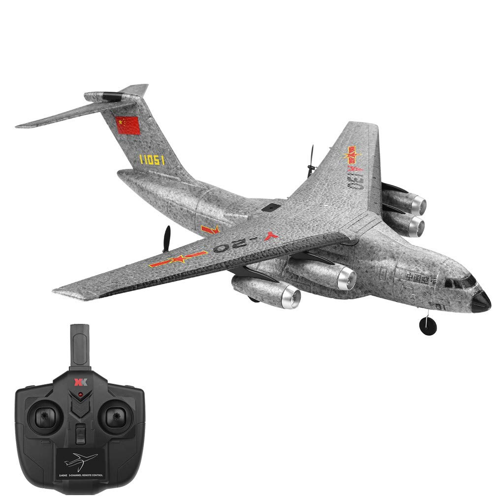 Mamun 2019 Nuevo WLtoys A130 3CH 2.4G RC Airplane RTF Planeador Remoto Sailplane Aviones (Gris)