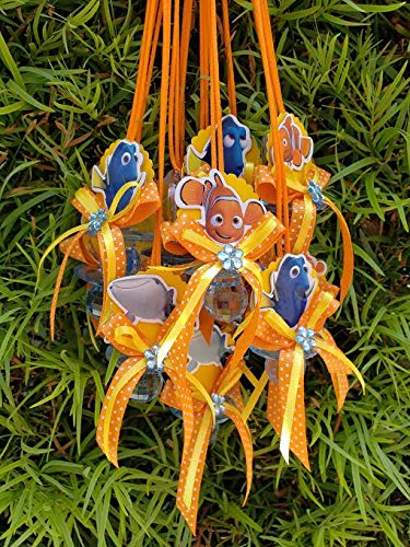 12 Nemo and Dory Baby Shower Pacifier Necklace Set (Chupones de Nemo y -