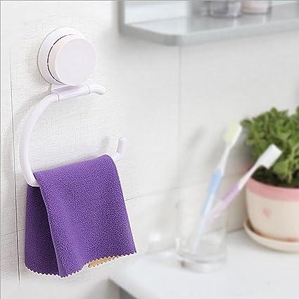 YUanBo Potente Ventosa de plástico toallero de Anilla Soporte, para Toalla de Papel higiénico para