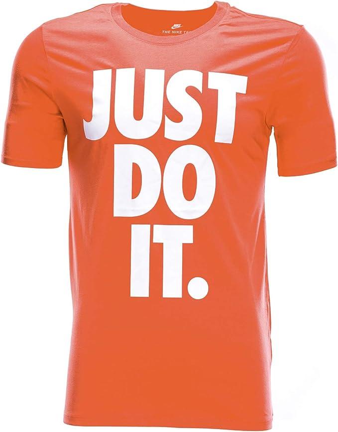 Nike T shirt Just Do It Orange Large: