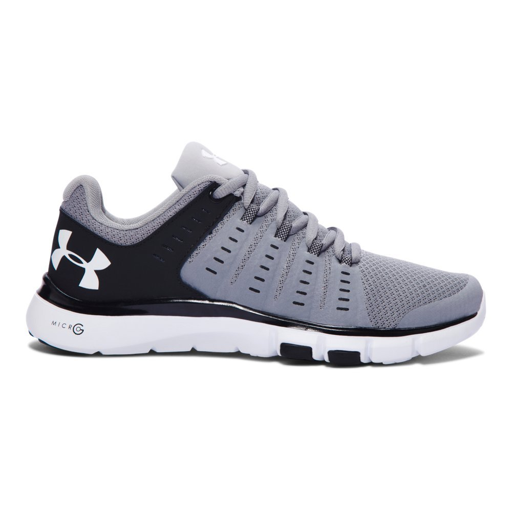 Under Armour Women's MicroG Limitless TR2 TM (10.5, Steel/Black/White) by Under Armour