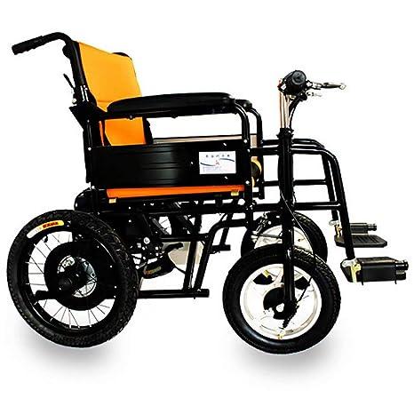 wheelchair Silla de Ruedas eléctrica Plegable Ligera, manija ...
