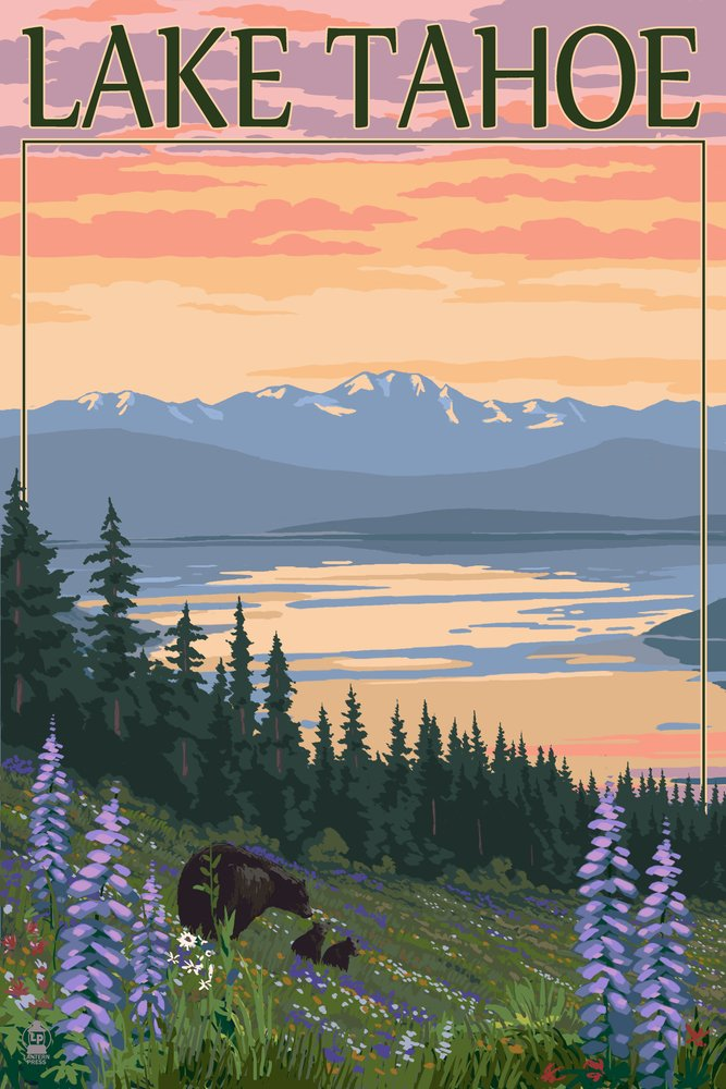 ウイスキー専門店 蔵人クロード Lake Tahoe – Bear Print Family and 18 Spring Flowers Art 12 x 18 Metal Sign LANT-46392-12x18M B00N5CQI3I 12 x 18 Art Print 12 x 18 Art Print, メジャースポーツ:d366ad11 --- arianechie.dominiotemporario.com