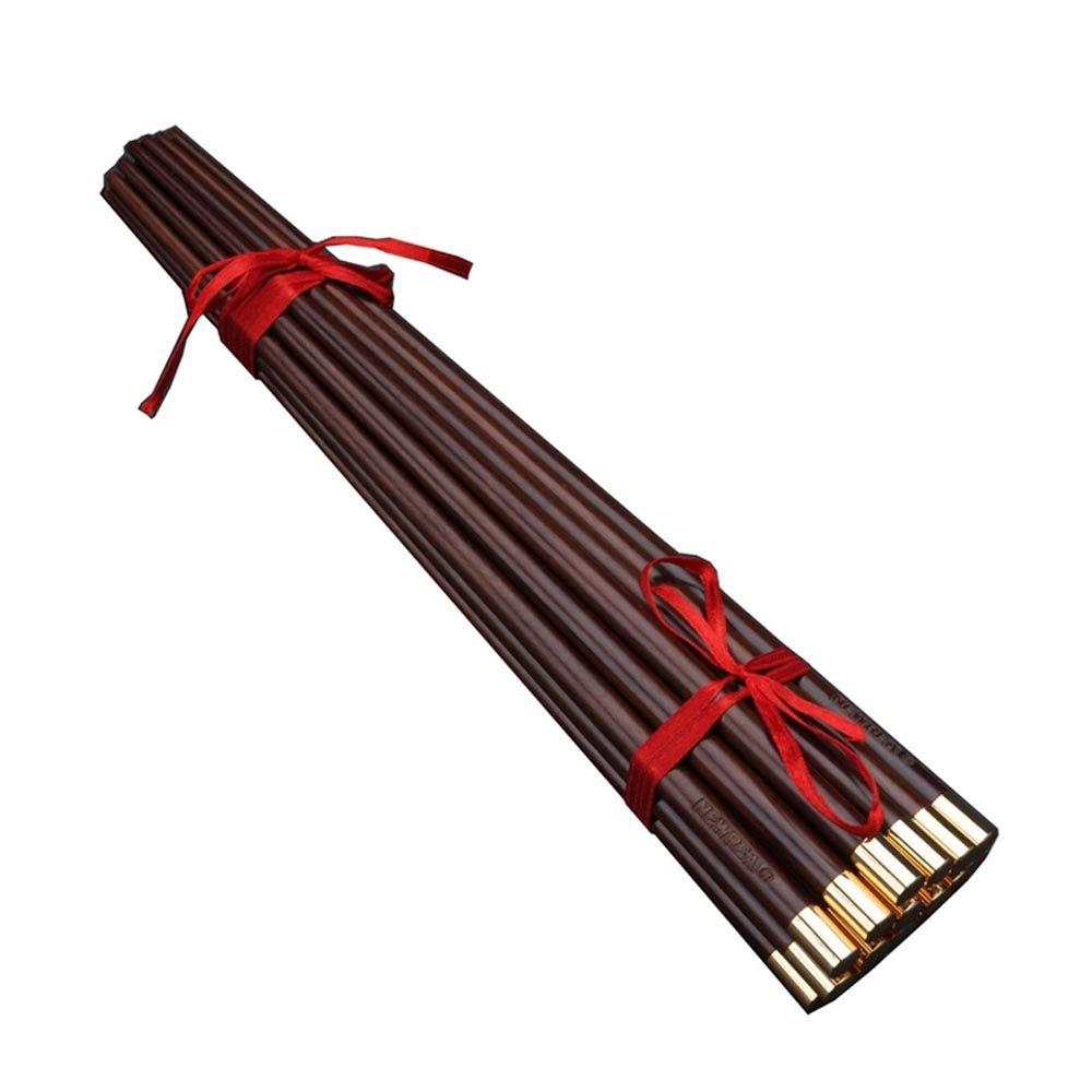 10 Pairs High Grade Rosewood Fu Character Chinese Suanzhi Mu Wood Chopsticks