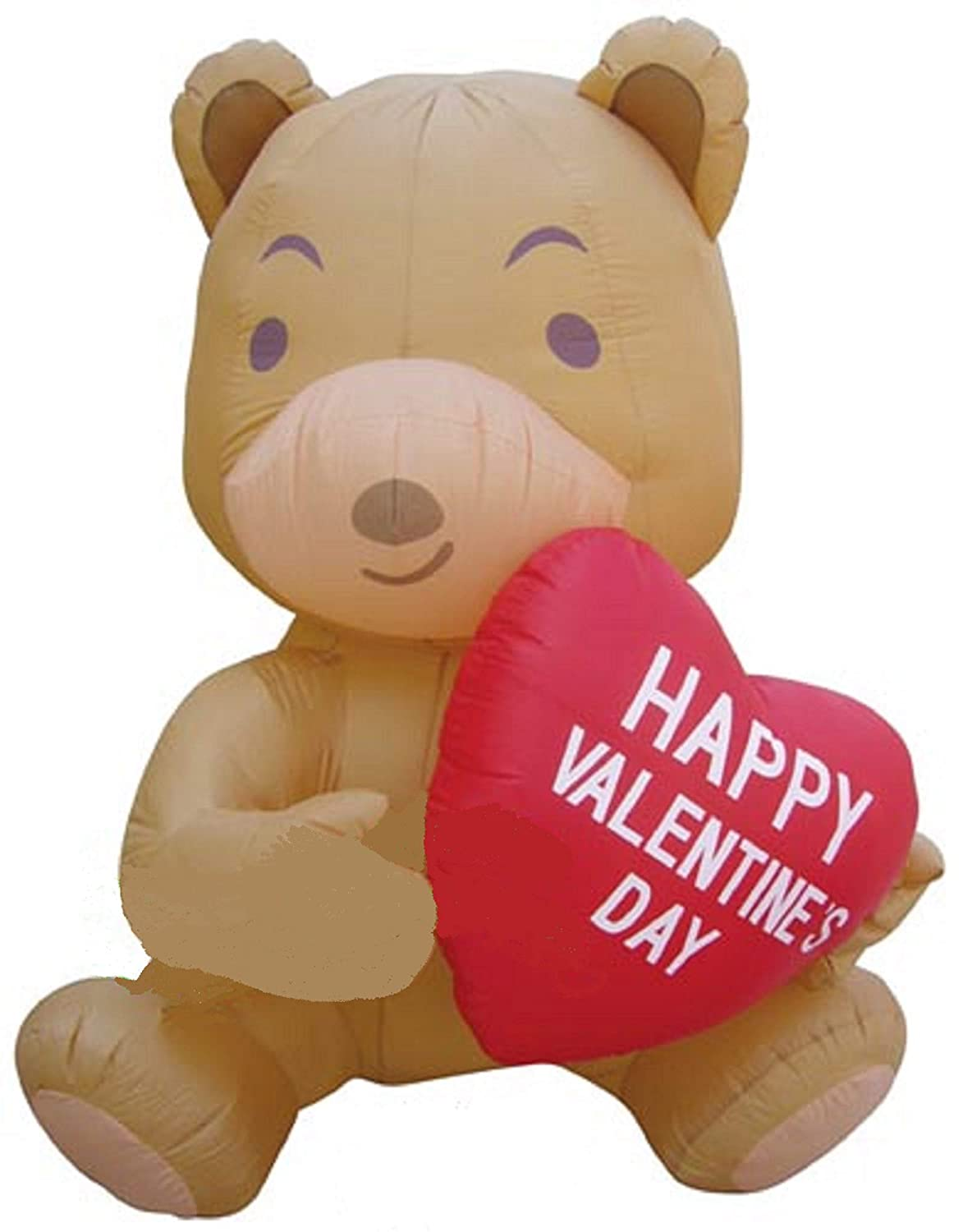 04ef861ac18df 5' INFLATABLE VALENTINES DAY BEAR HOLDING HEART YARD DECORATION