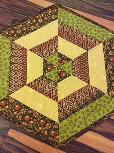 Fall Centerpiece Quilted Table Topper Autumn Leaves Fabric Mini Table Runner