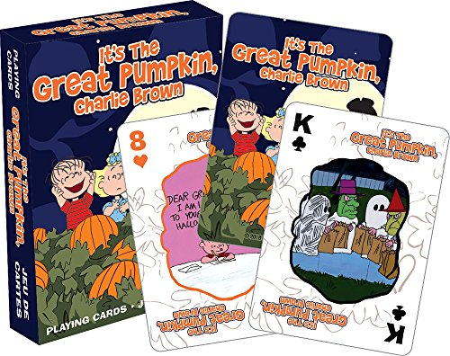 Aquarius Charlie Brown Great Pumpkin Playing Cards]()