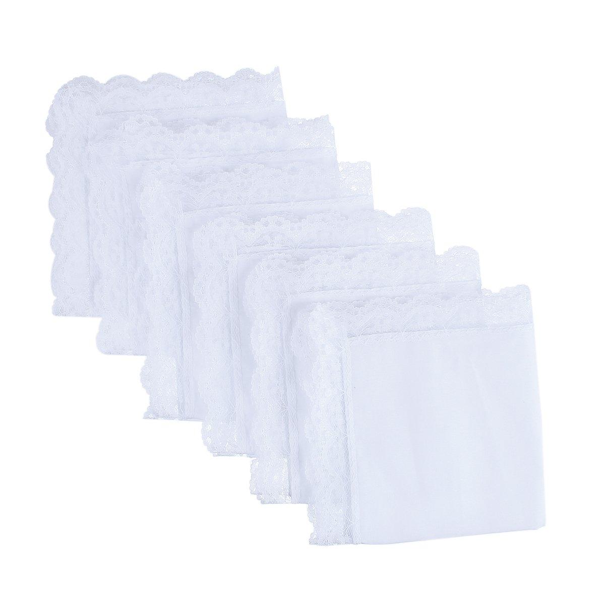 Houlife Damen Taschentuch Small White Pattern 1