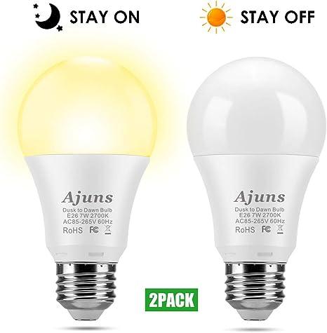 Light Control Auto Sensor Dusk to Dawn Sensor Activated Standard Bulb Socket E26