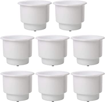 Black Recessed Plastic Cup Drink Can Holder with Drain-AM US 6 PCS!!