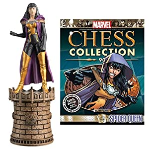Marvel Amazing Spider-Man Spider-Queen Black Queen Chess Piece with Collector Magazine #90