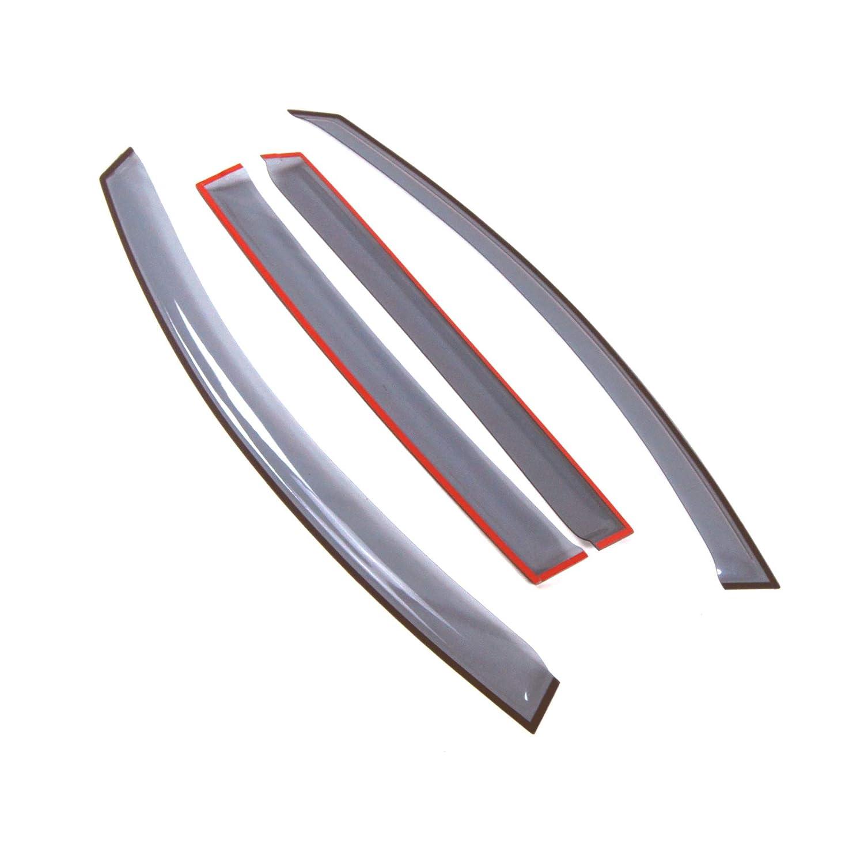 Tuningpros LWD2-646 Outside Mount Window Visor Deflector Rain Guard Light Grey 4 Pcs Set Compatible With 2011-2016 Kia Sportage