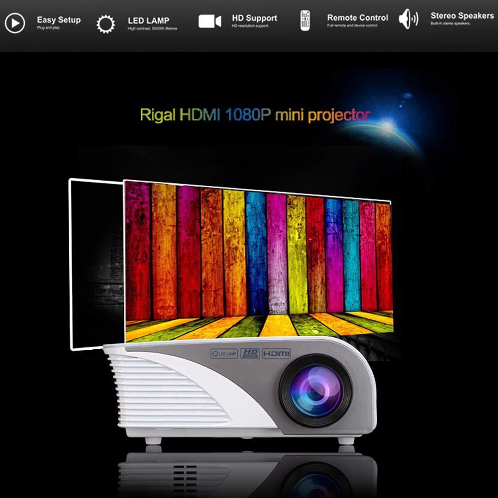 sungentle Mini proyector de 4 Pulgadas y 1080P con Pantalla de 120