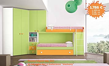 Hochbett mit begehbarem kleiderschrank  Kinderzimmer mit Hochbett, Eck mit begehbarer Kleiderschrank klipick ...