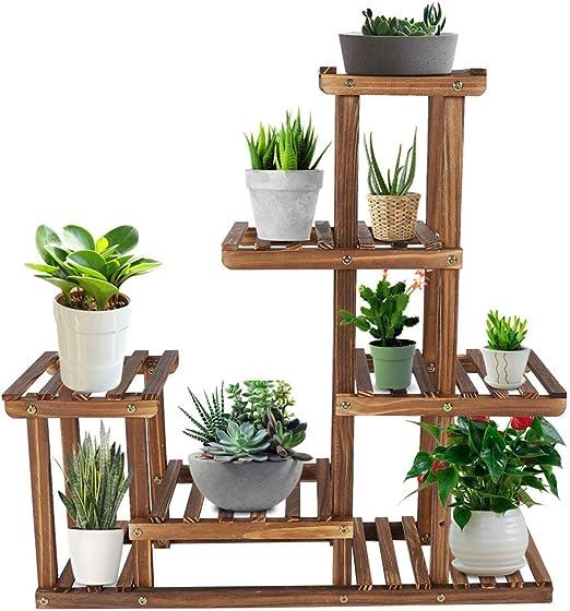Estantería escalera madera para plantas, soporte para macetas de plantas flores, expositor de jardín balcón terraza, 73 x 71, 5 x 20 cm: Amazon.es: Jardín